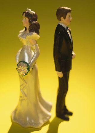 Divided wedding cake topper