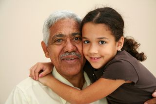 Grandfather and grandaughter