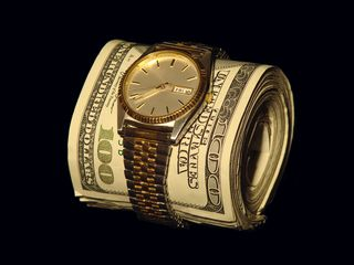 Money with watch